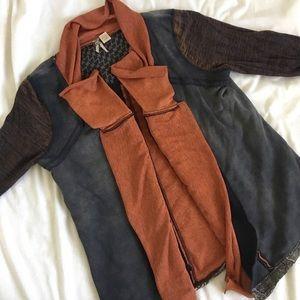 BKE Mixed Print Cardigan Sweater